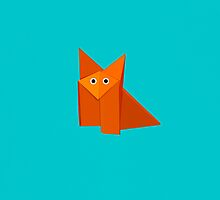 Cute Origami Fox iPhone Case by Boriana Giormova
