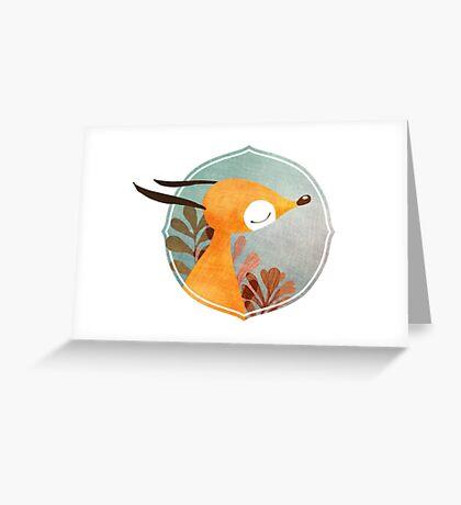 Portrait of fox Greeting Card