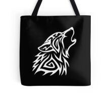 Tribal Wolf Howl - White Tote Bag