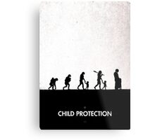 99 Steps of Progress - Child protection Metal Print