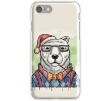 Dapper Christmas Bear iPhone Case/Skin
