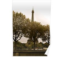 Eiffel Tower Through the Trees Poster