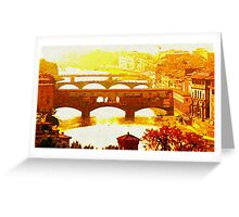 'Ponte Vecchio' Greeting Card