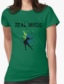 REAL MUSIC Womens Fitted T-Shirt
