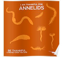 I Am Thankful For Annelids Poster