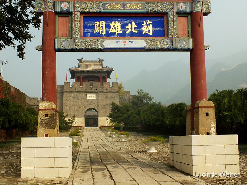 Walking the Walk ~ Great Wall of China at Huangyaguan by Lucinda Walter