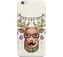 Dapper Christmas Reindeer iPhone Case/Skin