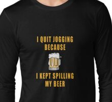 Beer Jogging Long Sleeve T-Shirt