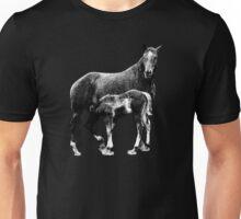 A horse family scene Unisex T-Shirt