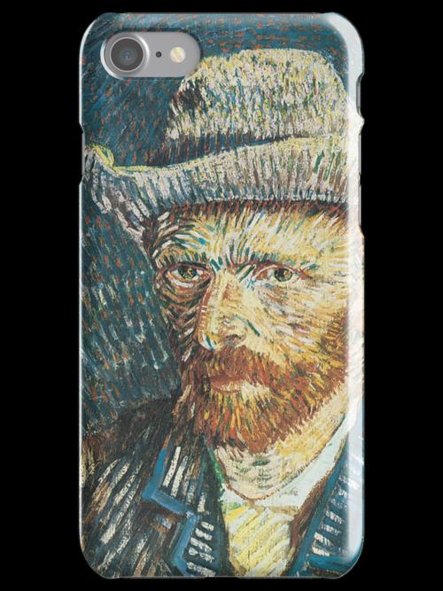 Van Gogh iPhone 5 Case - Self-Portrait with Felt Hat by VanGoghCases