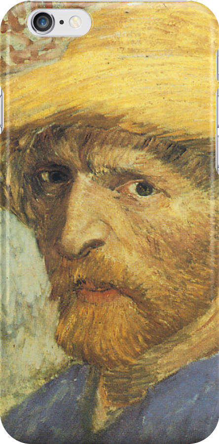 Van Gogh iPhone 5 Case - Self-Portrait with Straw Hat by VanGoghCases