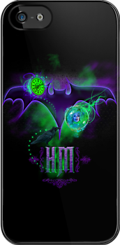 Haunted Mansion Bat and Leota iPhone 5 cover by Topher Adam for Hugs & Bitchslaps by TopherAdam