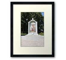 Stela with painting Framed Print