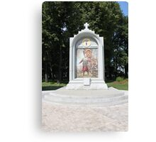 Stela with painting Canvas Print