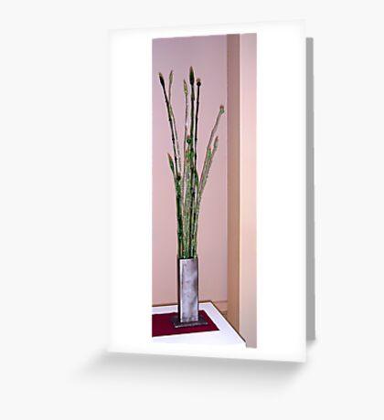 Glass Sculptures Greeting Card