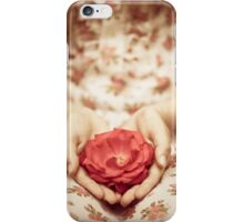 Rose in her hands iPhone Case/Skin