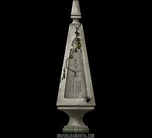 Haunted Mansion Gothic Spire in Black iPhone 5 cover by Topher Adam for Hugs & Bitchslaps by TopherAdam