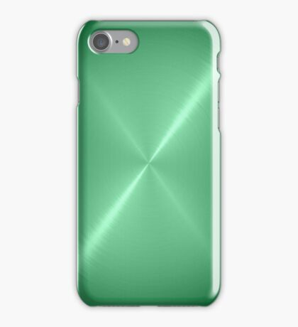 Green Stainless Shiny Steel Metal iPhone Case/Skin