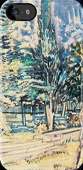 Van Gogh iPhone 5 Cases - Stone Steps in the Asylum Garden by VanGoghCases