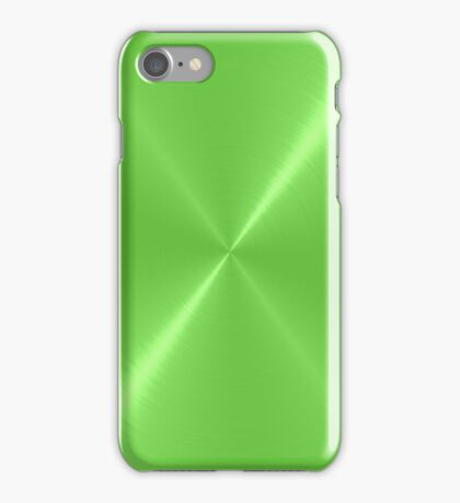 Cool Green Stainless Shiny Steel Metal iPhone Case/Skin