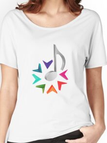 MUSIC TIME Women's Relaxed Fit T-Shirt
