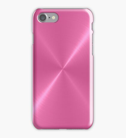 Hot Pink Stainless Shiny Steel Metal iPhone Case/Skin