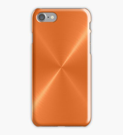 Orange Stainless Shiny Steel Metal iPhone Case/Skin