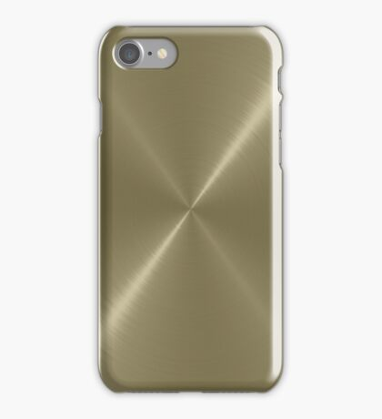 Tan Stainless Shiny Steel Metal iPhone Case/Skin