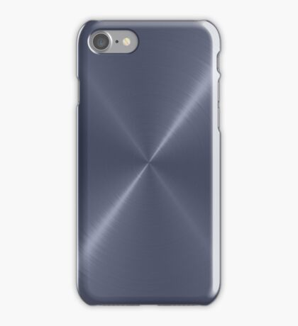 Gray Stainless Shiny Steel Metal iPhone Case/Skin