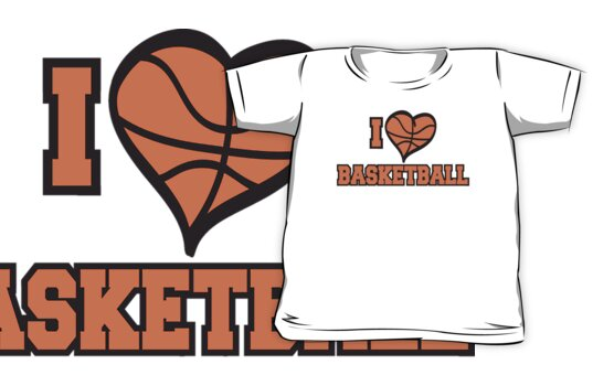 I Love Basketball by SportsT-Shirts