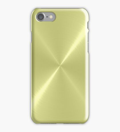Light Green Stainless Shiny Steel Metal iPhone Case/Skin