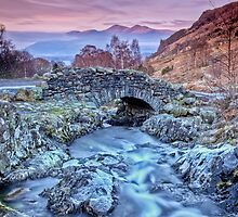 Twilight at Ashness Bridge in the English Lake District by Martin Lawrence