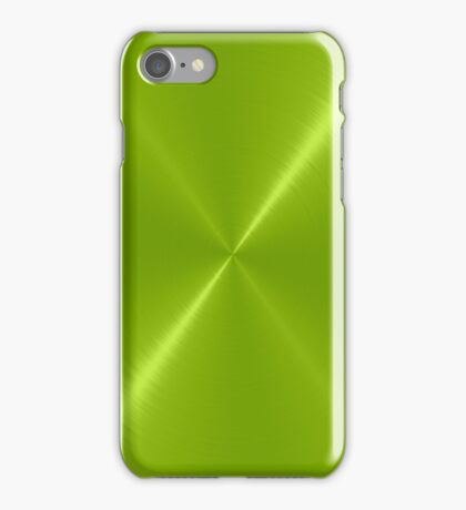 Lime Green Stainless Shiny Steel Metal iPhone Case/Skin