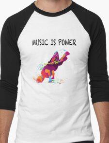 MUSIC IS POWER Men's Baseball ¾ T-Shirt