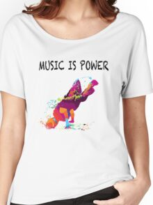 MUSIC IS POWER Women's Relaxed Fit T-Shirt