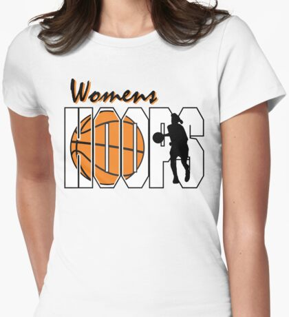 Basketball Women's Hoops Women's Womens Fitted T-Shirt