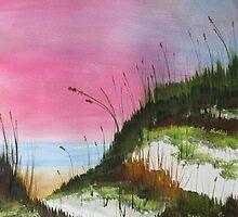 White Sandy Beach by Jack G Brauer