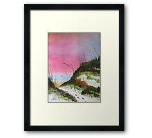White Sandy Beach Framed Print