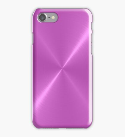 Violet Stainless Shiny Steel Metal iPhone Case/Skin