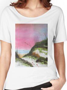White Sandy Beach Women's Relaxed Fit T-Shirt