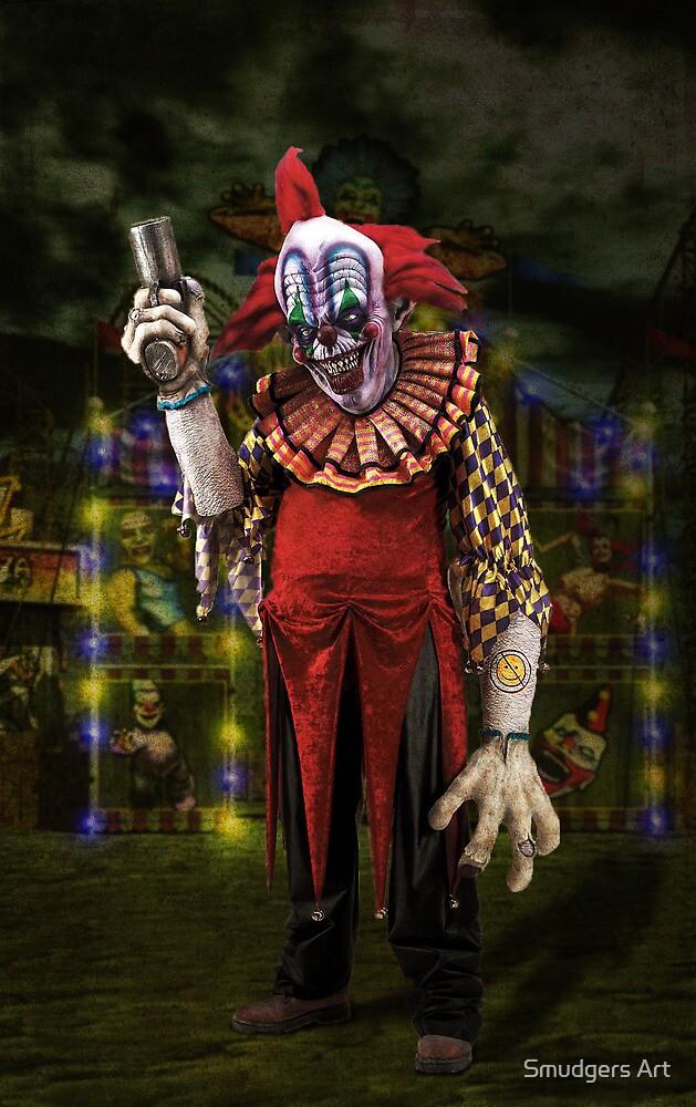 Jim Le Grin the Creepy Clown by Smudgers Art
