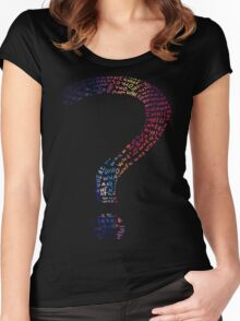 Question mark graphic T-Shirt Women's Fitted Scoop T-Shirt