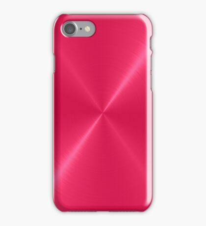 Red Stainless Shiny Steel Metal iPhone Case/Skin
