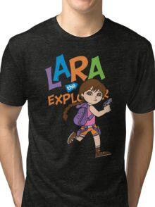 Lara the Explorer Tri-blend T-Shirt