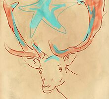 Magic Star Deer by iamsla