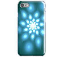 Blue flower abstract art iPhone Case/Skin