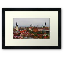 Atop Turreted Tallinn Framed Print