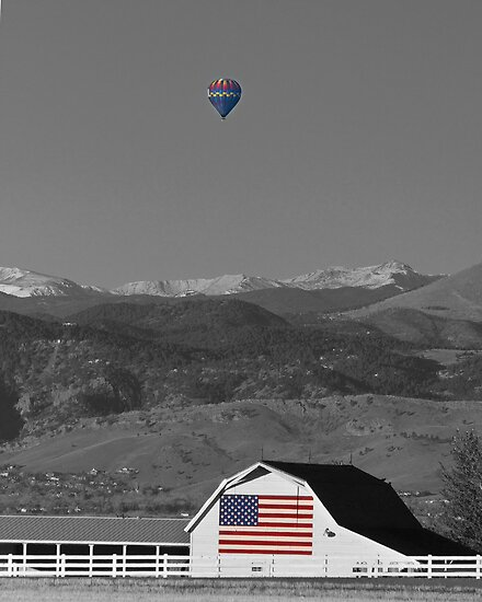 America The Beautiful The Banner Of The Free BWSC by Bo Insogna
