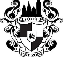 Illadelph Crest Sticker (Black) by joshtk731