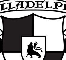 Illadelph Crest Sticker (Black) Sticker